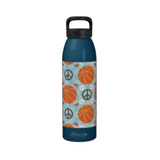 La bouteille d'eau BPA de basket-ball d'amour de p