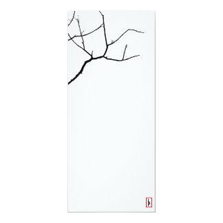 La branche par des poivrons de Leslie Carton D'invitation 10,16 Cm X 23,49 Cm