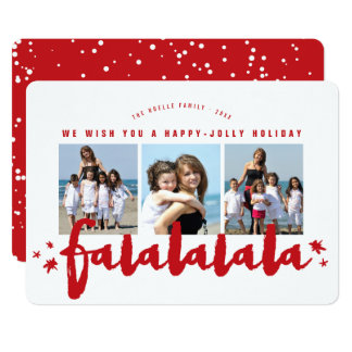 La brosse de Falalalala tient le premier rôle la Carton D'invitation 12,7 Cm X 17,78 Cm