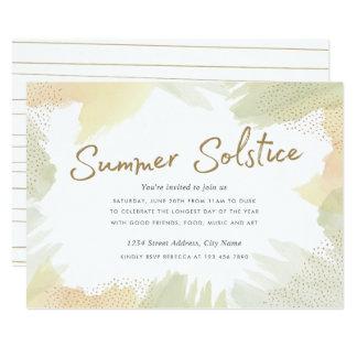 La brosse frotte l'invitation de solstice d'été carton d'invitation  12,7 cm x 17,78 cm
