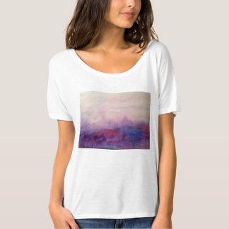 La brume d'eau-couleur sur le T-shirt