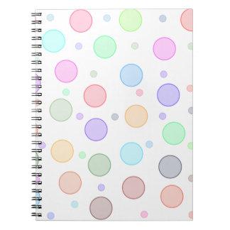La bulle colorée d'amusement entoure le carnet