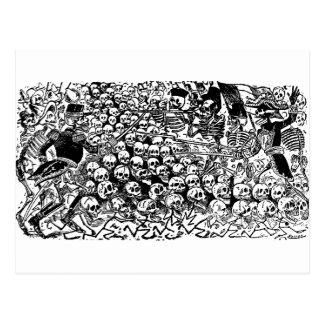 La Calavera Revuelta par José Guadalupe Posada Carte Postale