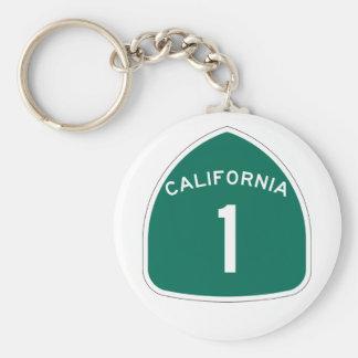 La Californie 1 Porte-clé Rond