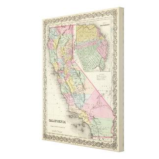 La Californie avec la ville de San Francisco Toiles