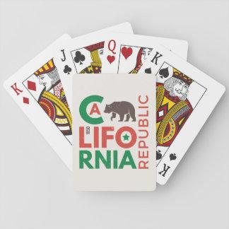 La Californie avec le logo d'ours gris Cartes À Jouer