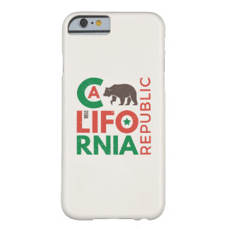 La Californie avec le logo d'ours gris Coque iPhone 6 Barely There