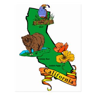 La Californie Carte Postale