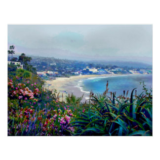 La Californie la Riviera du Laguna Beach Posters