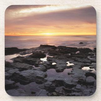 La Californie, San Diego, falaises de coucher du Sous-bock