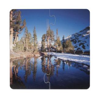 La Californie, sierra montagnes de Nevada 2 Dessous De Verre Puzzle
