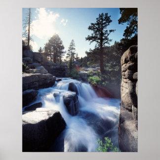 La Californie, sierra montagnes de Nevada, cascade Affiches
