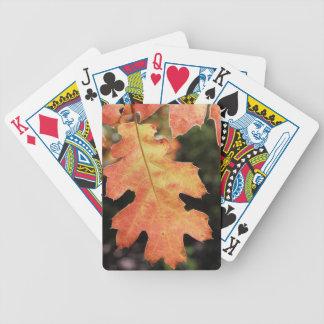 La Californie, une feuille de chêne colorée par Cartes À Jouer