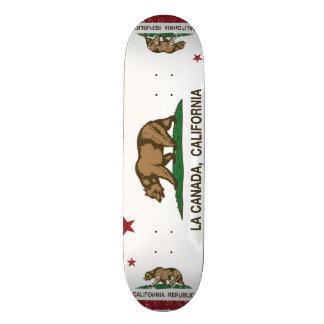 La Canada de drapeau de République de la Californi Plateaux De Skateboards Customisés
