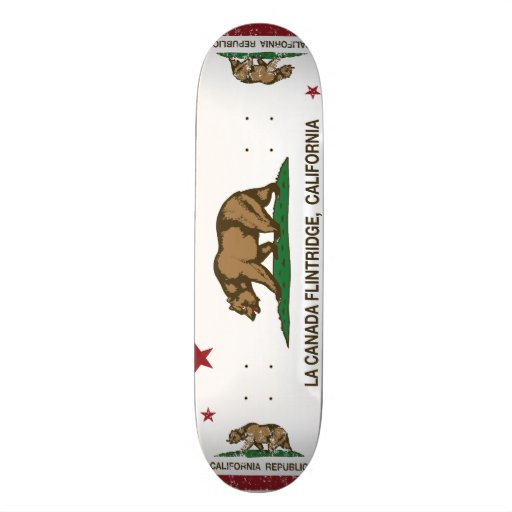 La Canada Flintridge de drapeau d'état de la Calif Skateboard