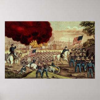 La capture d'Atlanta par l'armée des syndicats Posters