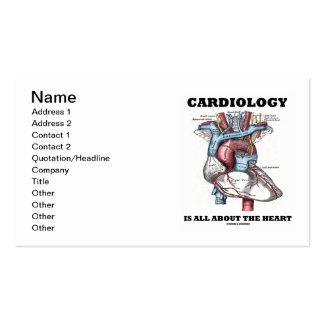 La cardiologie est tout au sujet du coeur anatomi modèle de carte de visite