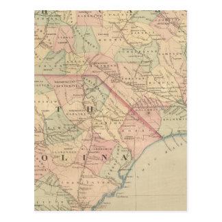 La Caroline du Nord et la Caroline du Sud Carte Postale