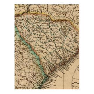 La Caroline du Nord, la Caroline du Sud, la Carte Postale