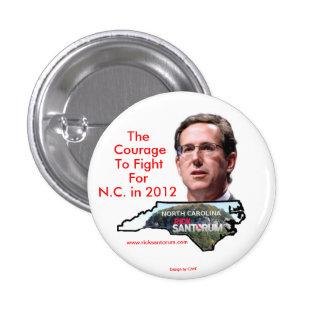 La Caroline du Nord pour Rick Santorum Pin's