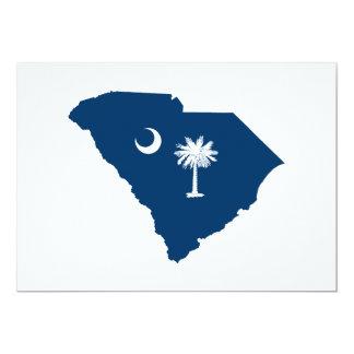 La Caroline du Sud dans bleu et blanc Carton D'invitation 12,7 Cm X 17,78 Cm