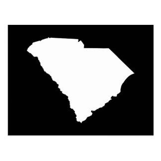 La Caroline du Sud dans le blanc et le noir Carte Postale