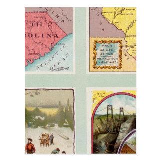 La Caroline du Sud, le Wisconsin, Maine, Michigan Carte Postale