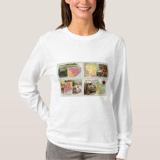 La Caroline du Sud, le Wisconsin, Maine, Michigan T-shirt