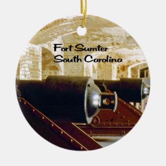 La Caroline du Sud Ornement Rond En Céramique
