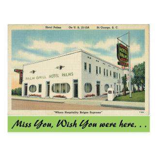 La Caroline du Sud, paumes d'hôtel, St George Carte Postale
