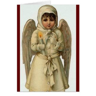 la carte d'ange de Noël la plus mignonne