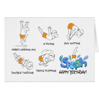 La carte d'anniversaire de fantaisie de plongeur