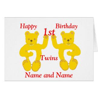 La carte d'anniversaire de jumeaux ajoutent l'âge