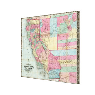 La carte de Bancroft de la Californie, Nevada Toiles