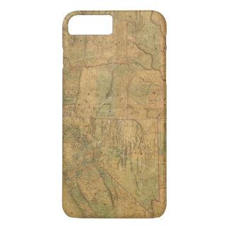 La carte de Bancroft des états Pacifiques Coque iPhone 7 Plus