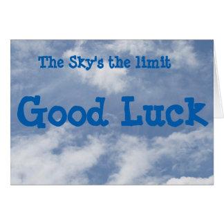 La carte de bonne chance de la limite du ciel