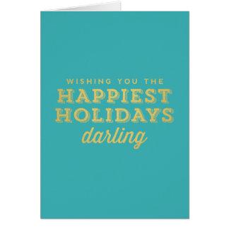 La carte de chouchou de vacances la plus heureuse
