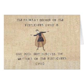 La carte de guilde de coups de poing
