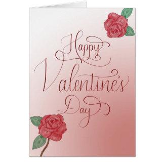 La carte de heureuse Sainte-Valentin, remettent en