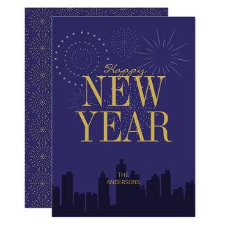 La carte de la bonne année moderne d'horizon