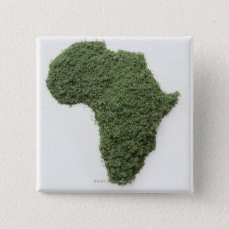 La carte de l'Afrique a fait de l'herbe Badge