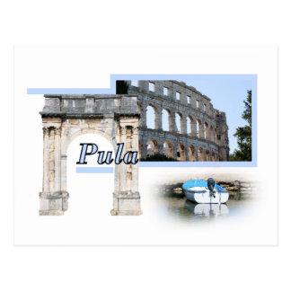 la carte de lettre pour Pula, la Croatie Carte Postale