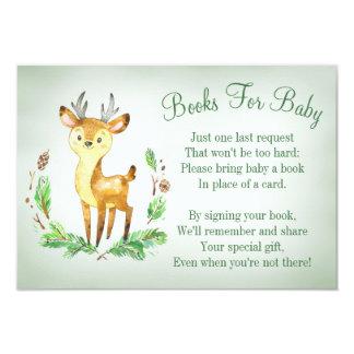La carte de livre de baby shower de région boisée