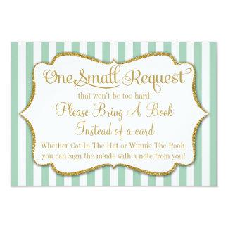 La carte de livre en bon état de baby shower d'or carton d'invitation 8,89 cm x 12,70 cm