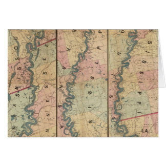La carte de Lloyd du fleuve Mississippi inférieur
