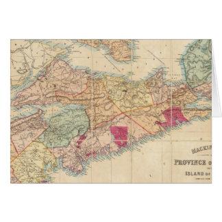 La carte de Mackinlay de la province de la