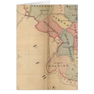 La carte de Martenet du Maryland, édition d'atlas