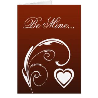 La carte de mon Saint Valentin chéri