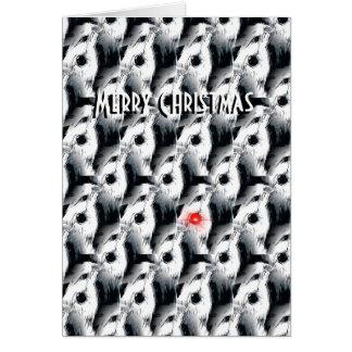 la carte de Noël barbue de colley