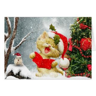La carte de Noël de chanteurs de Carol